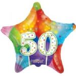 "HAPPY BIRTHDAY BALLOON 50th 18"" 19511-18"